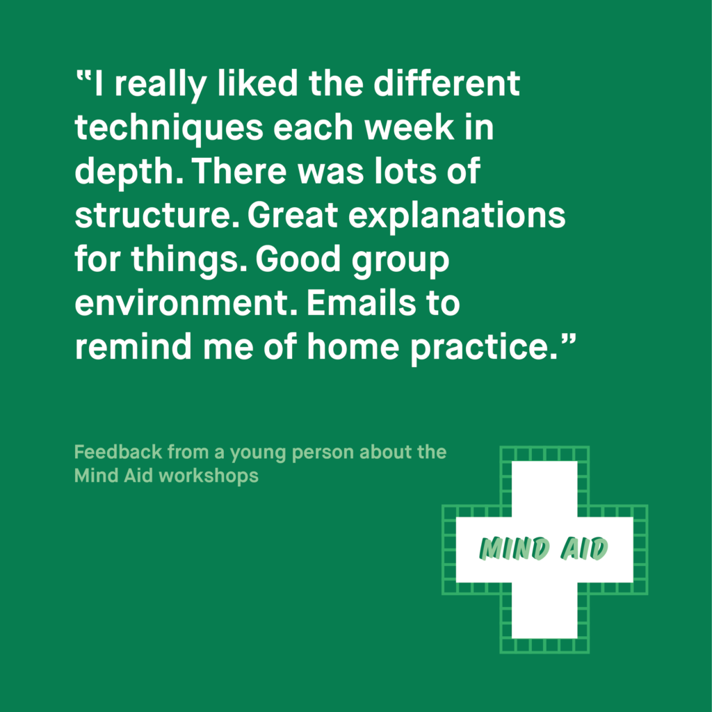 Feedback quote, against green background.
