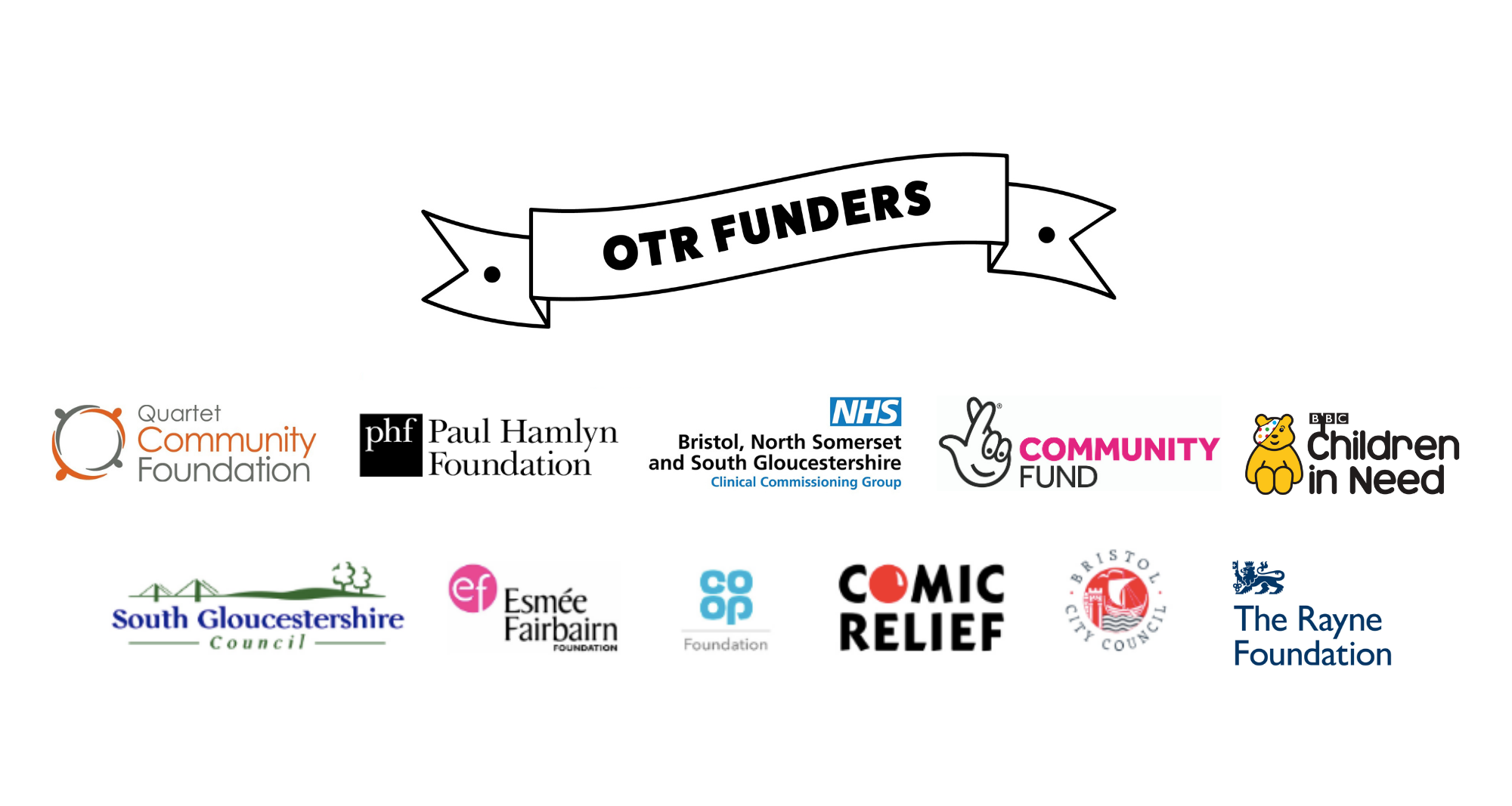 Big thanks to our funders