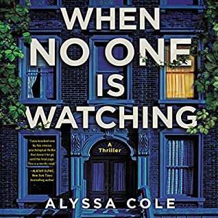 Book cover for When No One Is Looking by Alyssa Cole. It shows the front of a house in Brooklyn